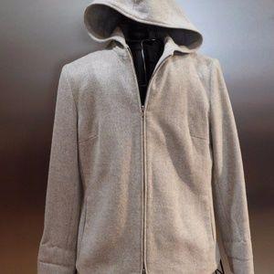 Ralph Lauren Jackets & Coats - Ralph Lauren Gray Wool Zip Front Hooded Jacket S